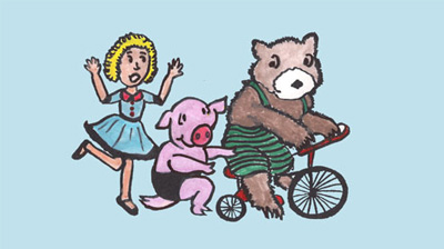 Little Goldy and the Three Riding Bears